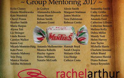 The Rachel Arthur Mentorship Program Honour Roll for 2017